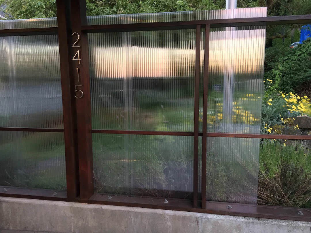 Polycarbonate Translucent Privacy Screen