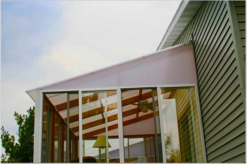 patio cover with multiwall polycarbonate sheets